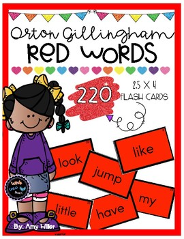Orton Gillingham Red Words [Flash Cards]