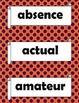 Orton Gillingham Red Words Stage 5 Flash Cards or Word Wall Words.