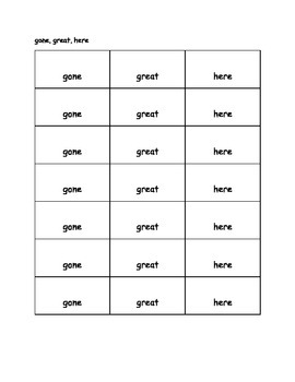 Orton-Gillingham Red Words flashcards - Stage 1