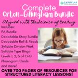 Orton-Gillingham: Complete Bundle {Levels 1, 2, & 3} 450+