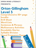 Orton-Gillingham Resources Level 3 Bundle