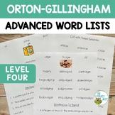 ADVANCED Word Lists & Sentences | Orton Gillingham Multise