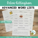 Orton Gillingham Resources Multisensory Reading Advanced W