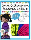 Orton Gillingham Sentence Strips [Fluency] Level 1