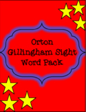 Orton Gillingham Sight Words (Fully Coded)