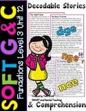 Orton Gillingham Soft C and Soft G Reading Passages & Comprehension (Dyslexia)