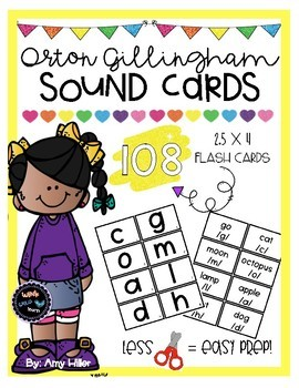 Orton Gillingham Sound Cards [Flashcards]