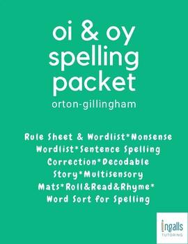 Orton-Gillingham Spelling Generalization: OI & OY Packet