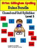 Orton Gillingham Spelling Closed and Unit Syllables Bundle