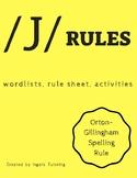 Orton-Gillingham Spelling Rule Activities: /J/ Rules