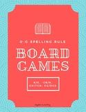 Orton-Gillingham Spelling Rules Board Games: k/c, -ck/k, -ge/dge, -ch/-tch