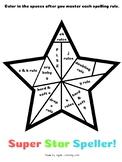 Orton-Gillingham Spelling Rules: Super Star Speller Coloring Sheet