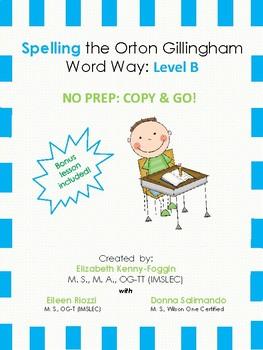 Orton Gillingham Spelling Series: Level B  -  Word Study Units