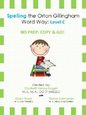 Orton Gillingham Spelling Series:Level C  -  Word Study Units