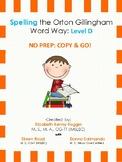 Orton Gillingham Spelling Series:Level D  -  Word Study Units