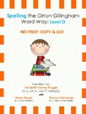 Orton Gillingham Spelling Series:Level D  -  Word Study Units