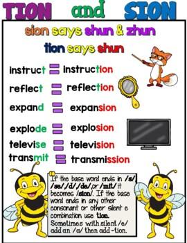 Orton Gillingham Spelling -TION & -SION Barton 6-10
