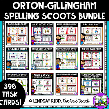 Orton-Gillingham Spelling Task Card BUNDLE