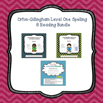 Orton-Gillingham Spelling and Reading Bundle:Level One