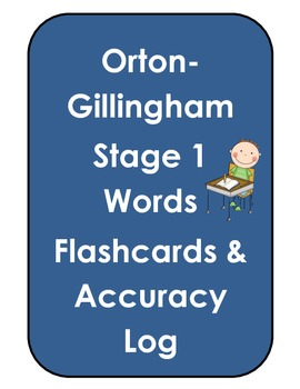 Orton Gillingham Stage 1 Flashcards & Accuracy Log