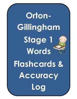 Orton-Gillingham Stage 1 Flashcards & Log