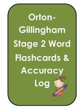 Orton-Gillingham Stage 2 Flashcards & Log