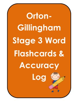Orton Gillingham Stage 3 Flashcards & Accuracy Log