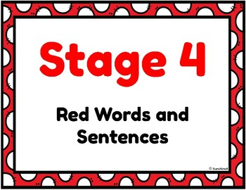 Orton Gillingham Stage 4 Red Words Display + Sentence