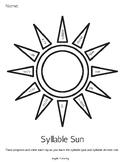 Orton-Gillingham Syllable Type & Syllable Division Sun