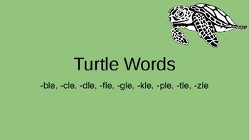 Orton Gillingham Turtle Words