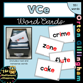 Orton-Gillingham VCE Word Cards