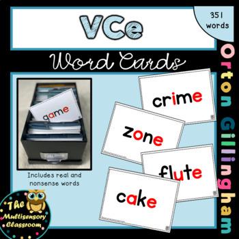 Orton-Gillingham VCE Word Cards