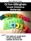 Orton-Gillingham Vowel Intensive Materials Pack {Black & W