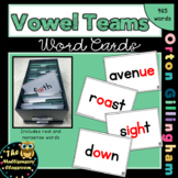 Orton-Gillingham Vowel Team Word Cards