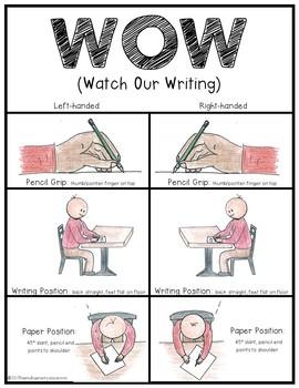 Orton Gillingham: WOW Handwriting Poster