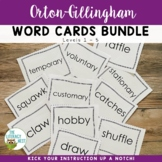 Orton-Gillingham Word Cards Bundle Levels 1-5