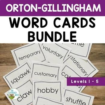 Orton-Gillingham Word Cards Bundle Levels 1-5