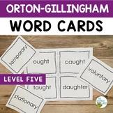Orton-Gillingham Word Cards Level Five
