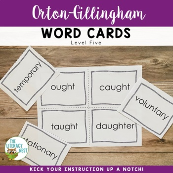 Orton-Gillingham Word Cards Level Five
