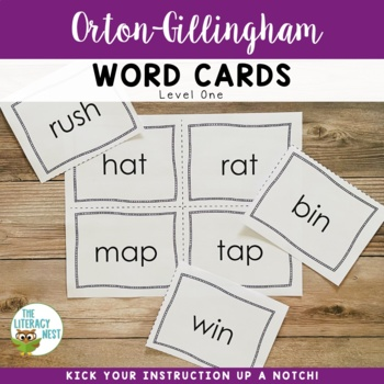 Orton-Gillingham Word Cards Level One