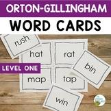 Orton-Gillingham Level 1 Word Cards