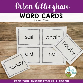 Orton-Gillingham Word Cards Level Two