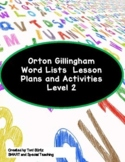 Orton Gillingham Word Lists  Dyslexia Interventions Level 2