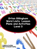 Orton Gillingham Word Lists Dyslexia Interventions Level 3