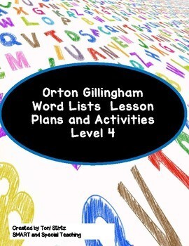 Orton Gillingham Word Lists Vowel Teams Dyslexia Interventions Level 4