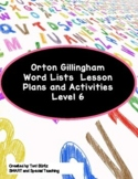Orton Gillingham Word Lists Advanced Concepts Dyslexia Interventions Level 6