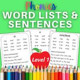 Orton Gillingham Lesson Plans for Level 1- New Information words and sentences