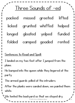Orton Gillingham Word and Sentence Lists for Level 2 of the Basic OG sequence
