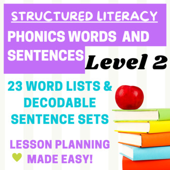 Orton Gillingham Lesson plans for Level 2- words and sentences