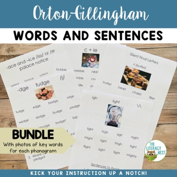 Orton-Gillingham Word Lists Levels 1-5 ~WITH PHOTOS~